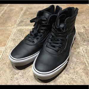 Black zip up Vans